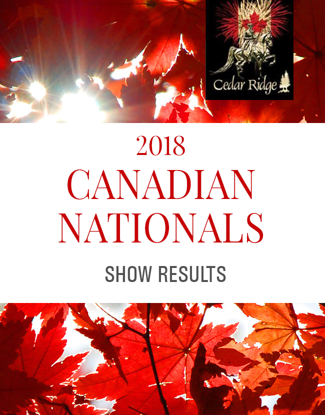 2018 Canadian Nationals Show Results