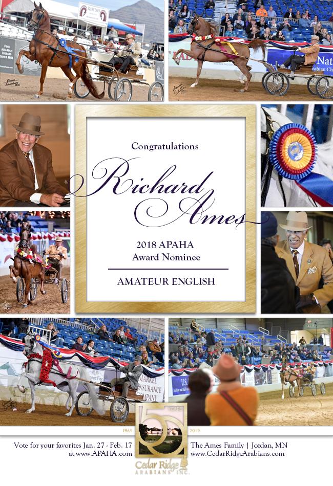 APAHA Amateur English Nominee Dick Ames!