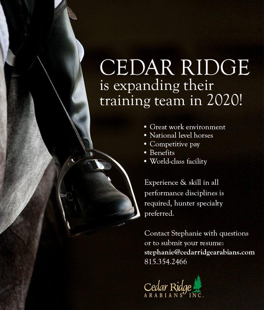 Cedar Ridge Is Expanding Their Training Team
