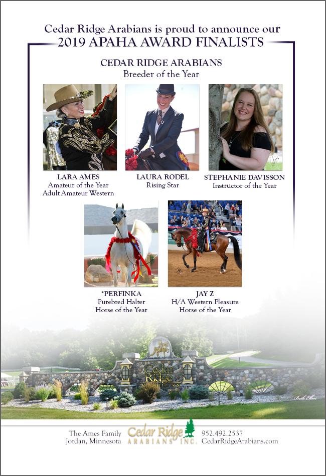 Cedar Ridge Proudly Announce their APAHA Award Finalist